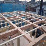【注文住宅】 舎人建替え工事 上棟しました。