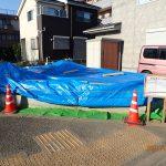 雨養生のためのブルーシート